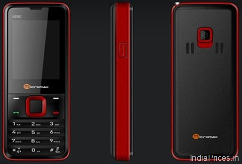 for micromax x250 mobile